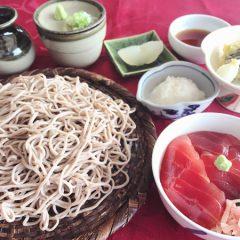 秋野菜天ぷら 長芋蕎麦・うどん 漬け鮪丼