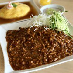 ジャージャー麺とハーフ天津飯セット