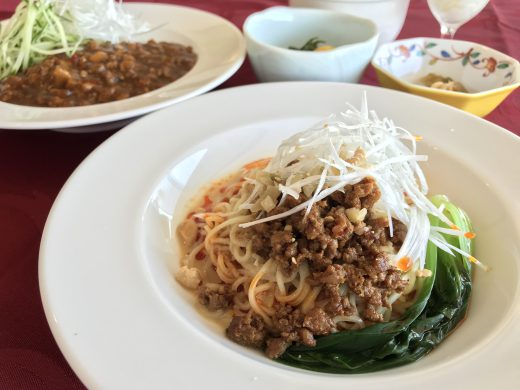 中華セット ジャージャー麺又は冷やし担々麺 & 炒飯