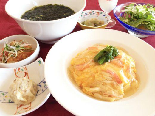 図合蟹入天津飯 青海苔拉麺と油淋鶏
