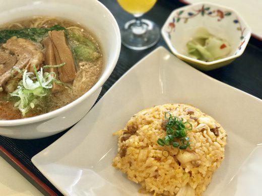 キムチ炒飯と中華そば