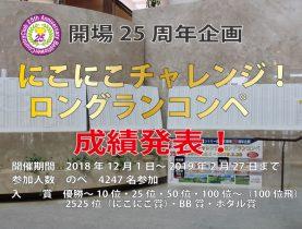 にこにこチャレンジロングランコンペ 最終成績発表!!